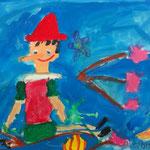 全部のモチーフをしっかり描けたね。ピノキオの表情がとてもいです。