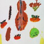 モチーフがヴァイオリンの曲に合わせて跳ねているような感じだね!