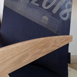 Bras ou accotoir en frêne, bois massif, pas de placage, pas de contreplaqué réalisé par l'ébéniste Esther de l'Etoile des Bois