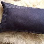 Le coussin assorti jeans bleu bicolore 1083