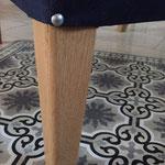 Les pieds du fauteuil en frêne, chêne ou noyer création ébéniste l'Etoile des Bois 77