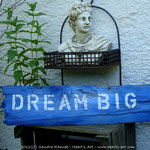 Heart♥Sign 'Dream Big' - Acryl auf Altholz - verkauft