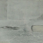 Weißt Du, wo der Himmel ist ? 2 / 2012 / 120 x 30 / Acryl, Acrylglas, Keilrahmen