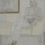 Alles - oder Nichts / 2012 / 160 x 140 / Acryl, Seide, Keilrahmen