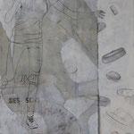 Auf der Suche nach der Leichtigkeit des Seins / 2012 / 150 x 100 / Acryl, Keilrahmen