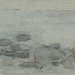 Weißt Du, wo der Himmel ist ? 3 / 2012 / 120 x 30 / Acryl, Acrylglas, Keilrahmen
