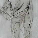 Blindfolded / 2012 / 160 x 60 / Acryl, Acrylglas, Keilrahmen