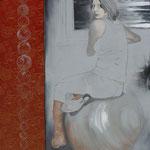 Das Mädchen mit der Perlenkette / 2012 / 160 x 140 / Acryl, Gewebe, Keilrahmen