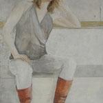 Man sieht immer das, was man gerne sehen möchte 2 / 2012 / 160 x 100 / Acryl, Seide, Keilrahmen