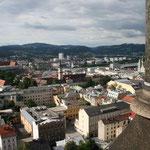 Hoch über den Dächern von Linz