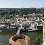 Grandiose Aussicht über die Stadt Passau