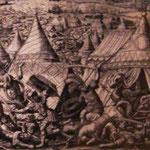 Türkenbelagerung vor Wien 16.Jhd - Kupferstich