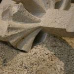 Hautnah an den Steinmetzarbeiten