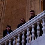 Peter, Gerald und Stefan genießen das großartige Ambiente der Hofburg