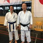 Karin mit Sensei Nagai 9.Dan SKIF / D 2019