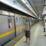 Dans le métro on a pas l'impression d'etre en Inde..