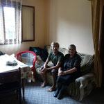 Chez Milena, une grand-mere serbe chez qui on dort (dehors il tombe des trombes)