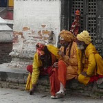 Saddhus (hommes sages hindus) pres de Pashupatinath