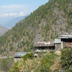 Dunche, petit village sur la route de Kathmandou