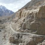 Petite piste de a vallée de Chapursan, menant au couloir de Wakhan, vers l'Afghanistan.