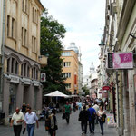 Une rue commerçante de Sarajevo