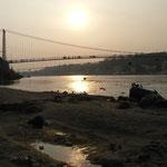 Le Gange au couché de soleil