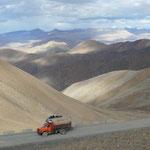 Montée au Pang La, sur la piste menant au camp de base du Qomolongma