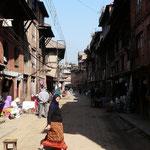 Les rues de Baktapur sont agreablement calmes: les voitures y sont interdites.