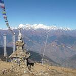 Dominant la vallee de Dunche, en face le Ganesh Himal