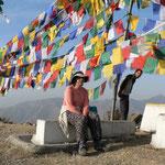 A Mussoorie, a coté d'un stuppa sans doute construite (et décorée) par les réfugiés tibétains vivant en contrebas