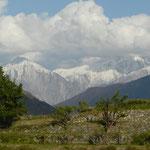 """Nous sommes maintenant rentres dans la province des """" Northern areas"""", les montagnes se rapprochent"""