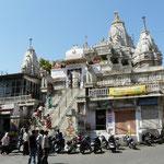 UNe place de la vieille ville d'Udaipur