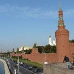 Les remparts du Kremlin, que nous n'avons pas reussi a franchir avec nos velos..