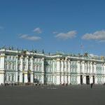 Le palais d'hiver et le musee de l'Hermitage