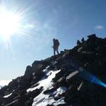 En arrivant au Surya Peak