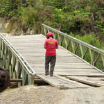 checking doggy bridges - die Brücke war wenig Vertrauen erweckend