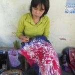 Yogya ist auch für Batiken berühmt - Yogya is famous for batiks