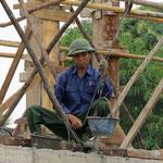Mörtelaufzug - pulling mortar up