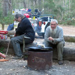 Camp kitchen at Chapman Pools
