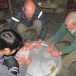 making Vietnamese spring rolls