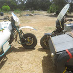 R100 GS mit crossboot vs K 100 mit Wüstenerfahrung  - R 100 GS with offroad idecar vs K 100 with desert experience