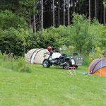 Die Ersten Zelte werden aufgebaut