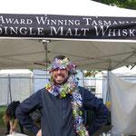 Whiskeyverkäufer  - he sell's Whiskey at Hobart market