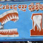 Zahnarztwerbung in Koh Kong