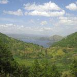 letzter Blich auf den See - last view of lake Toba