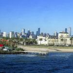 letzter Blick auf Melbourne  -  looking back on Melourne
