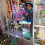 pressing sugar cane juice
