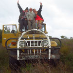 with Mike's ute in the bush