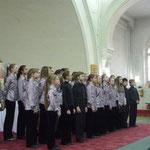 Хор ДШИ им Андреева (рук.Н.Соловьева) на концерте-встрече трех хоров 27 апреля 2012 года в Шведской церкви. (фото Н.Володин)