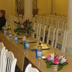 Перед началом конкурсных прослушиваний 27.12.2012 в Концертном зале МПУ